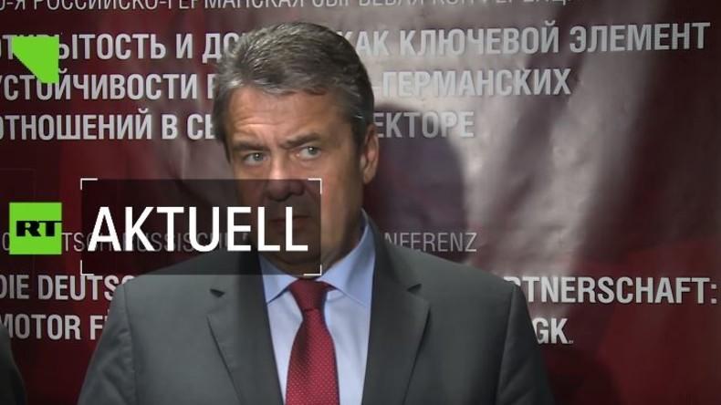 Exklusiv: Sigmar Gabriel in Sankt Petersburg zur Zukunft der Russland-Sanktionen und  Nord Stream 2