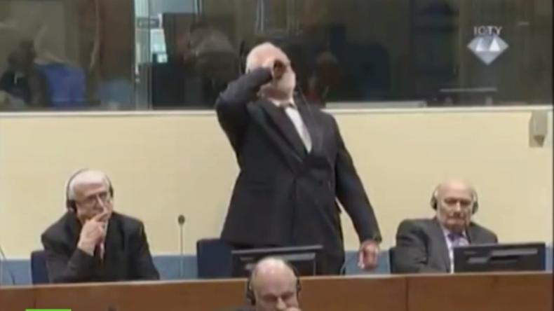 Selbstmord vor Gericht: Ehemaliger bosnisch-kroatischer General trinkt Gift nach Urteilsverkündung