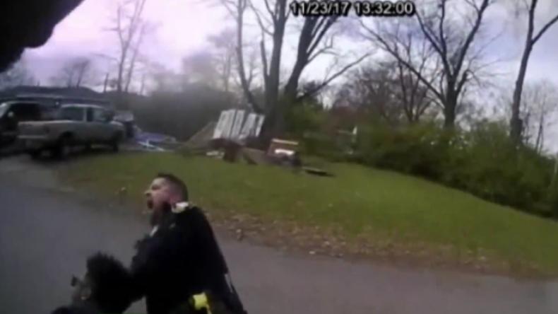"""""""Sorry, Nick!"""" - Polizist trifft versehentlich seinen Kollegen mit Elektroschockpistole"""