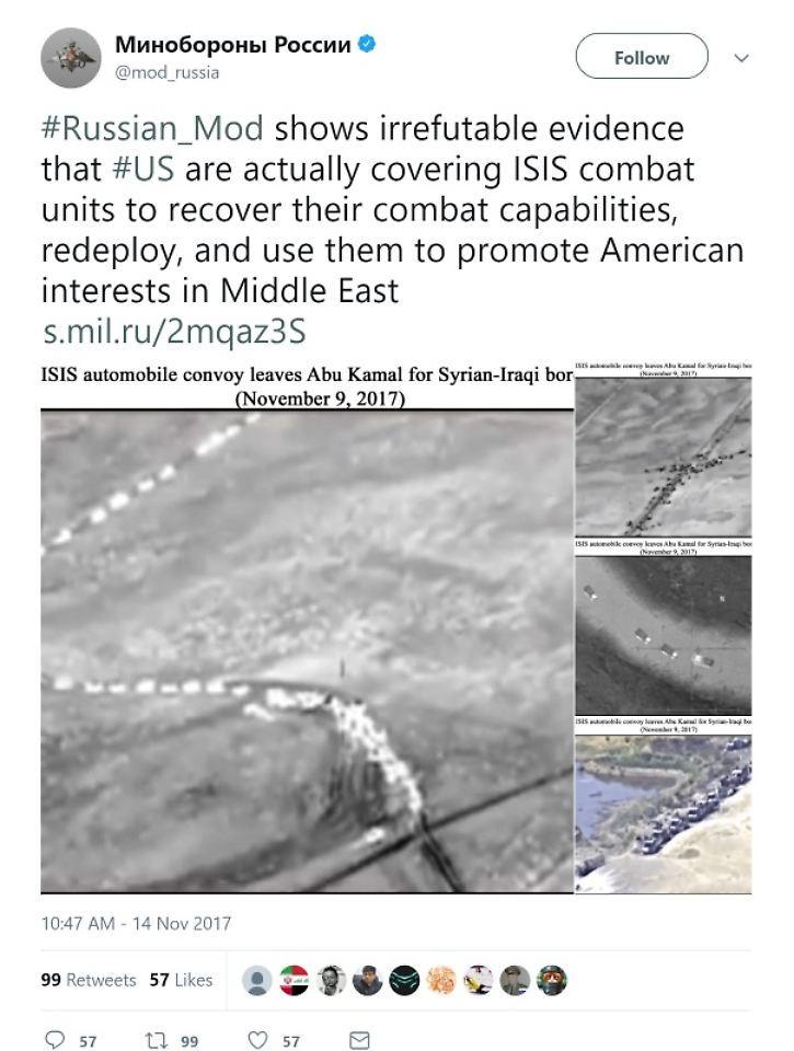 Nach Fake-Foto-Blamage: Moskau hält am Vorwurf der Kooperation der USA mit dem IS fest