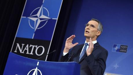 NATO Generalsekretär Jens Stoltenberg auf einer Pressekonferenz am 9. November 2017 während des Nato-Gipfels in Brüssel.
