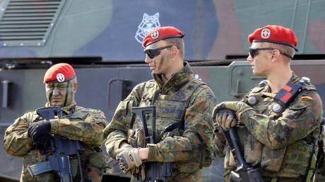 Bundeswehrsoldaten während der