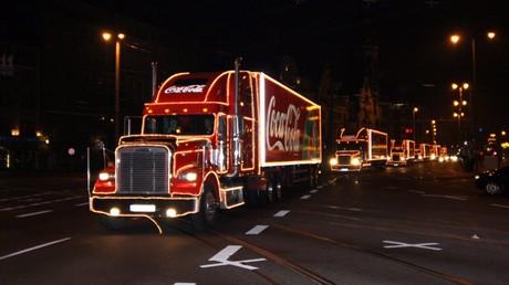 Coca-Cola-Truck-Tour trifft auf Widerstand in Großbritannien (Archivbild: Leipzig, Dezember 2016)