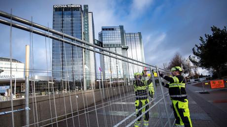 Zäune zum Schutz des Social Summit der EU in Göteborg, Schweden, 15. November 2017.