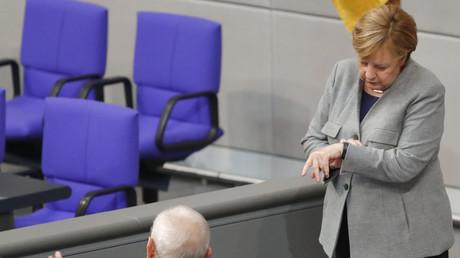 Angela Merkel in Berlin, Deutschland, 24. Oktober 2017.