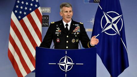 US-General John Nicholson während einer Nato-Konferenz am 9. November Brüssel.