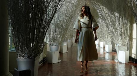 Melania Trumps Weihnachtsdekoration im Weißen Haus, Washington, USA