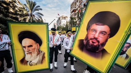 Schiitisch-muslimische Prozession in Beirut, Libanon. Oktober 2016.