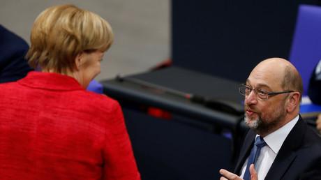 Angela Merkel und Martin Schulz, Berlin, Deutschland, 21.November 2017.