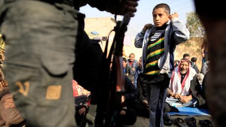 Flüchtlingskind in Mossul, Irak, 7. November 2016.