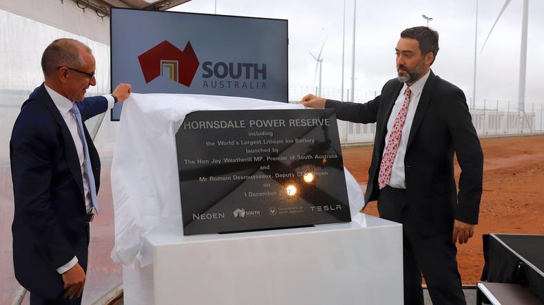 Australien: Weltgrößte Lithium-Ionen-Batterie in Betrieb genommen