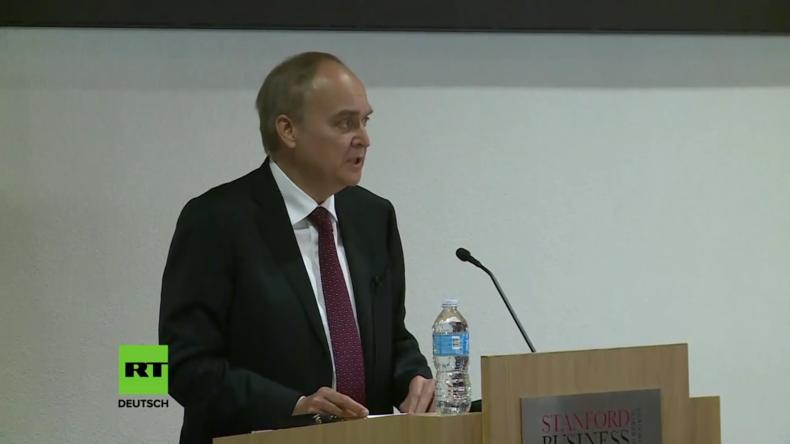 """Russischer Botschafter an Stanford-Uni: NATO keine """"friedliebende Organisation"""""""