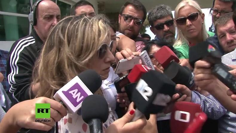 """Argentinien: """"Sie müssen sie finden"""" - Angehörige fordern weitere Suche nach U-Boot-Mannschaft"""