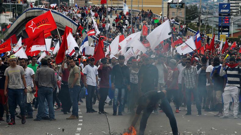 Nach mutmaßlichem Wahlbetrug in Honduras: Ausnahmezustand und Massenproteste