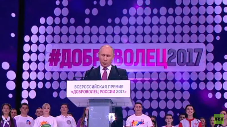 """LIVE: Rede Putins bei den Auszeichnungen für """"Freiwillige 2017"""" in Moskau"""