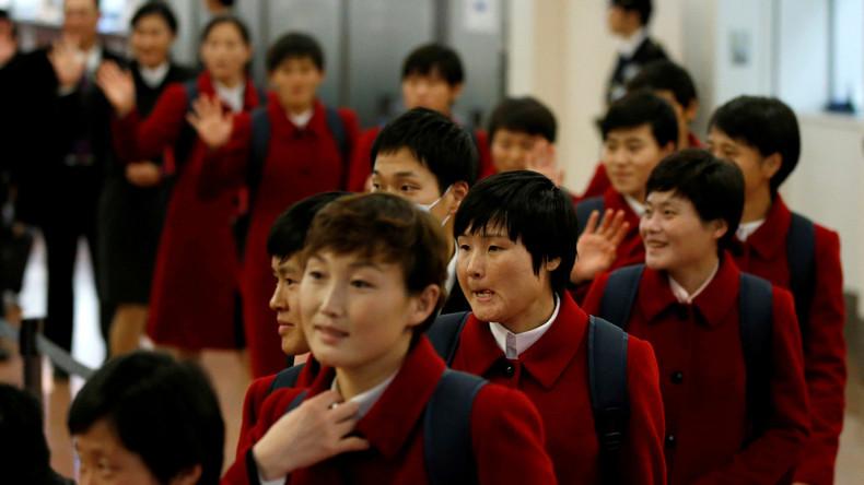 Ostasien-Meisterschaft: Nordkoreanische Fußballerinnen mit Begeisterung in Tokio empfangen