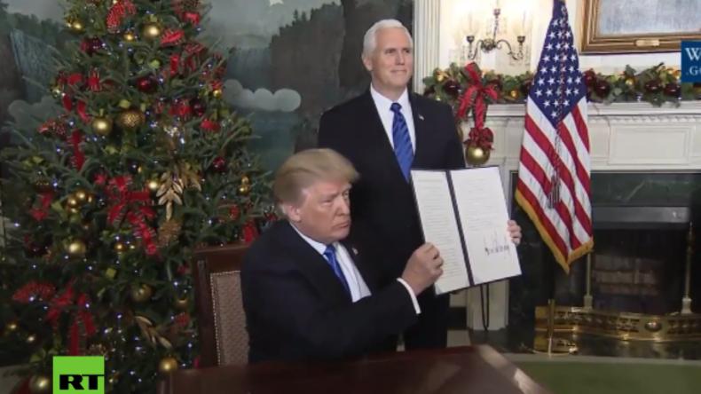 Trump hält Wahlversprechen und erkennt namens der USA Jerusalem als Hauptstadt Israels an