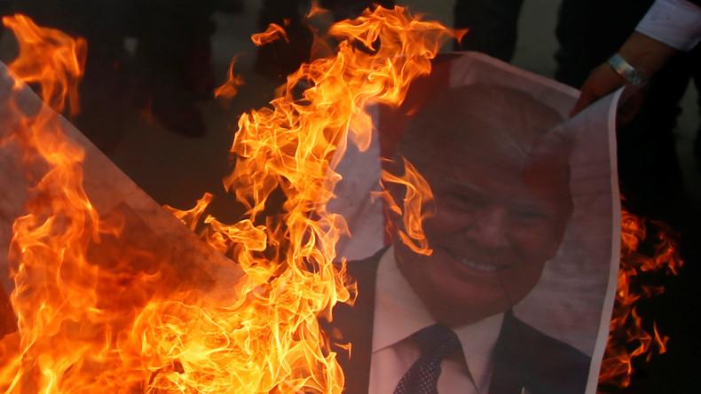 LIVE: Palästinenser protestieren in Gaza gegen Trump