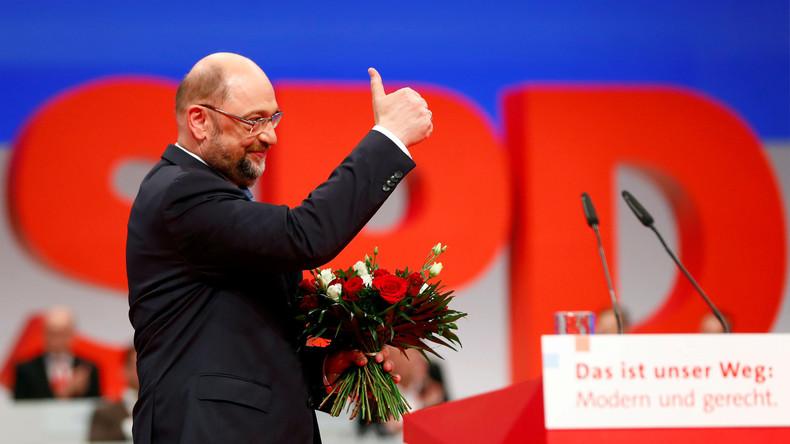 Schulz mit fast 82 Prozent erneut zum SPD-Vorsitzenden gewählt