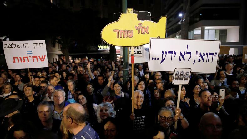 Zehntausende Israelis demonstrieren gegen Benjamin Netanjahu und Korruption
