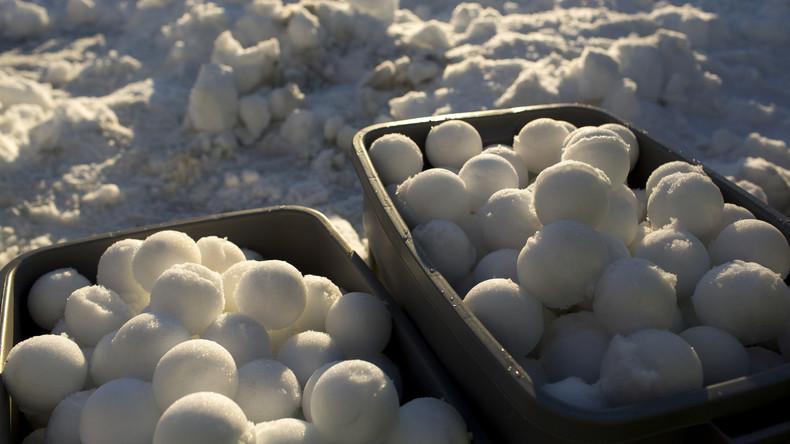 Rekordmäßige Schneeballschlacht wird in USA wegen zu viel Schnee gestrichen