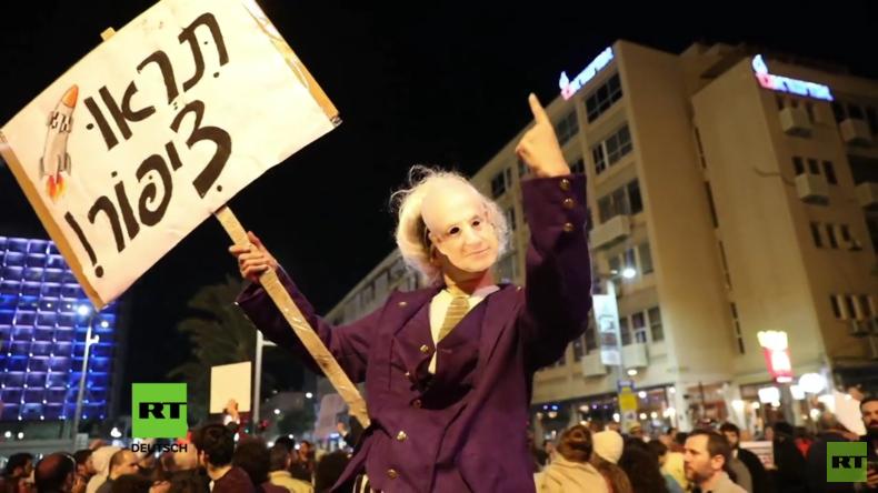 """""""Marsch der Schande"""": Netanjahu auch im eigenen Land unter Druck"""