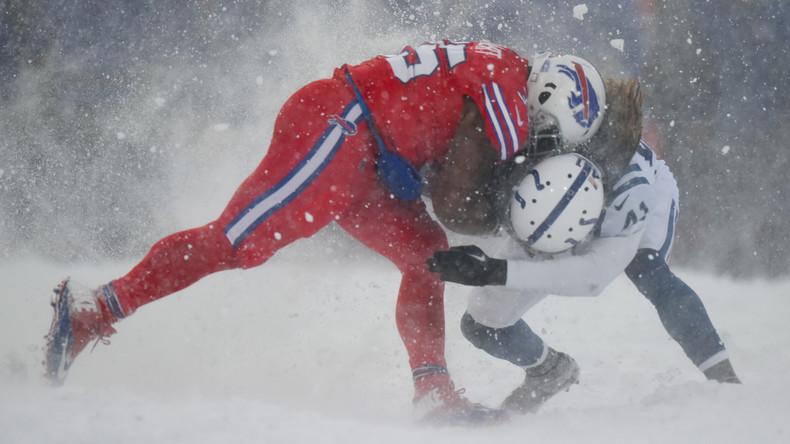 """""""Wie jenseits der Mauer in Game of Thrones"""": US-Mannschaften spielen während Schneesturms [FOTOS]"""