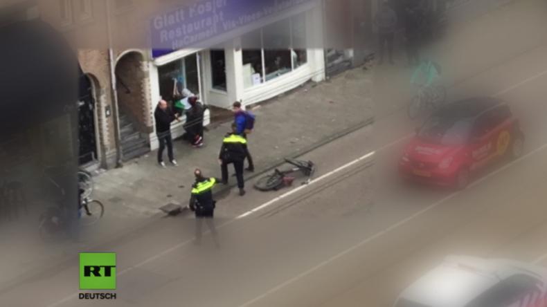 Amsterdam: Mann mit Palästina-Flagge zerschlägt Scheiben von jüdischem Geschäft