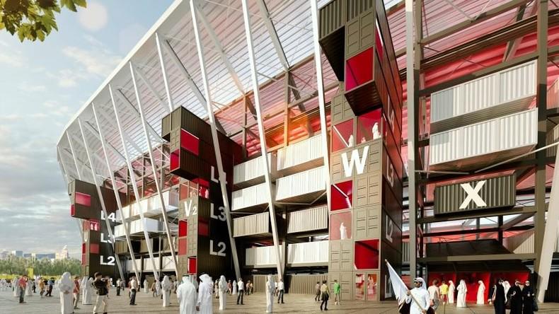 Mobiles Fußballstadion aus Seefracht-Containern soll im Vorfeld der WM 2022 in Katar entstehen