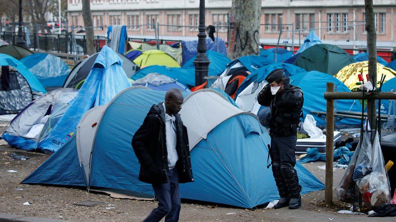 Paris: Anwohner drohen mit Hungerstreik gegen zeltende Flüchtlinge in ihrem Bezirk