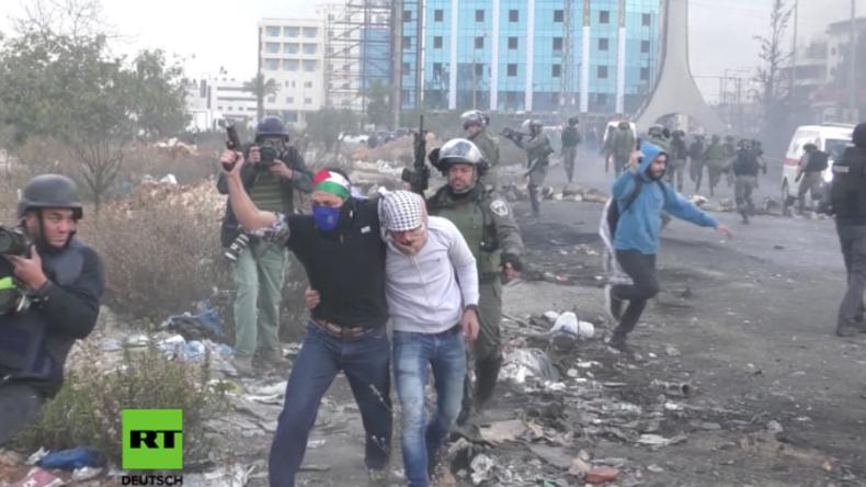 Auseinandersetzungen mit israelischen Soldaten