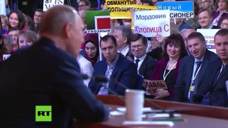Putin erklärt Notwendigkeit eines starken russischen Militärs in einem Witz