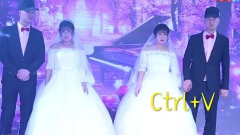 Zwei Zwillingsbrüder heiraten zwei Zwillingsschwestern in China