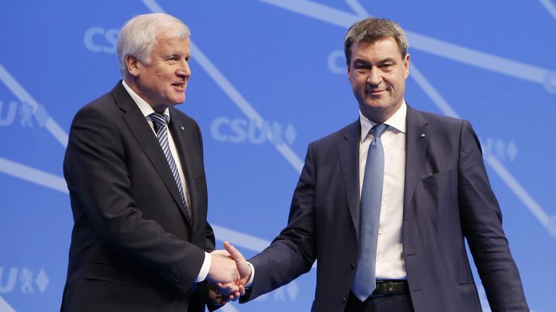 CSU-Parteitag in Nürnberg: Neue Harmonie zwischen Seehofer und Söder