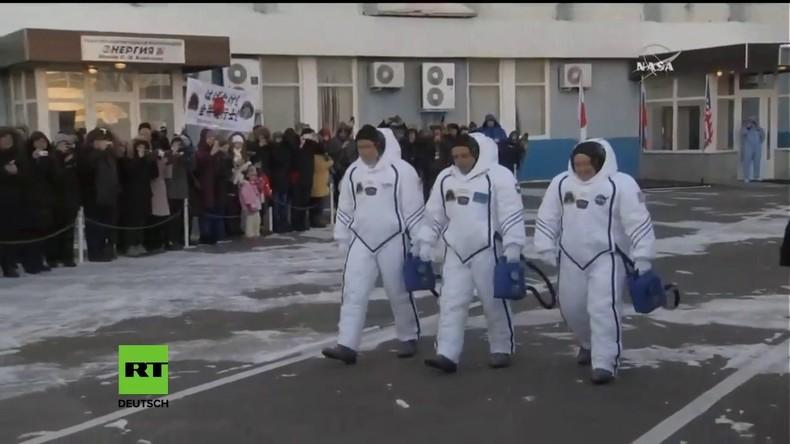 Kasachstan: Start für die neue Crew der ISS mit Soyuz MS-07