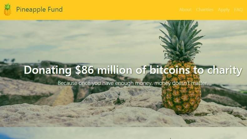 Anonymer Bitcoin-Magnat spendet Millionen für Wohltätigkeit