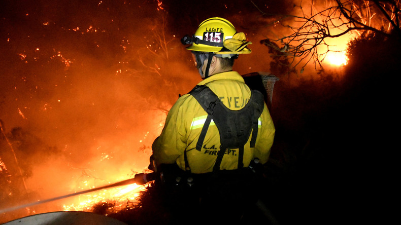 US-Feuerwehr macht Fortschritte bei Brandbekämpfung in Kalifornien