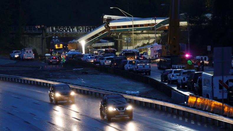 US-Verkehrsbehörde zur Zugentgleisung bei Seattle mit über 100 Verletzten: Zug viel zu schnell