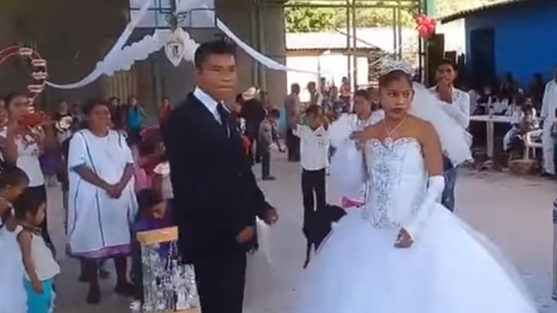 Die traurigste Hochzeitsfeier der Welt? Beklemmendes Trauungsvideo verbreitet sich viral
