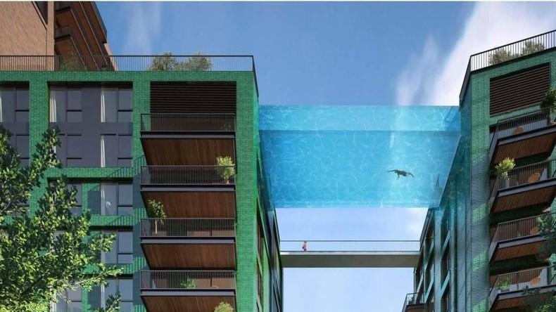 Da liegt etwas in der Luft: London bekommt schwebendes Schwimmbecken