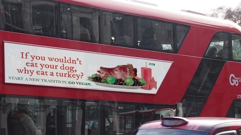 Gebratener Hundekopf in Peta-Werbung in London verboten – Tierschützer unzufrieden