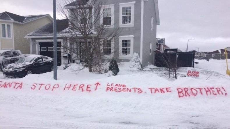 """Mädchen aus Kanada bittet Weihnachtsmann: """"Nimm meinen Bruder!"""""""
