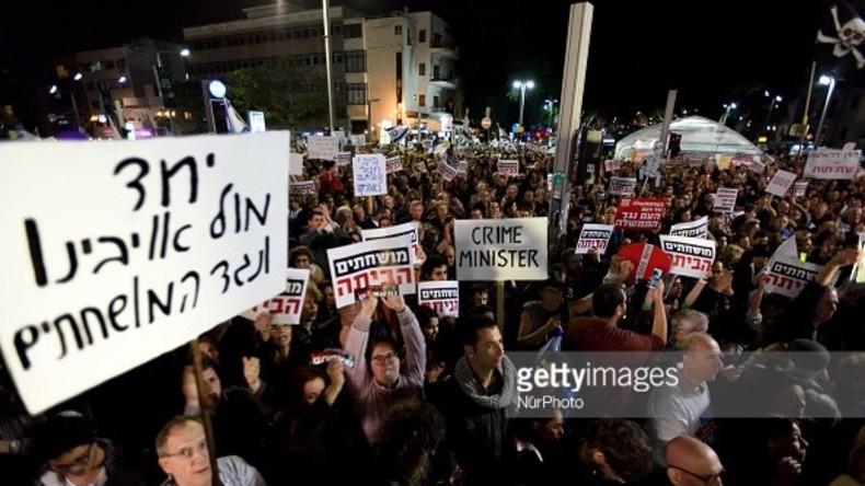 """""""Crime Minister"""": Erneut große Proteste gegen Korruption in Israel"""