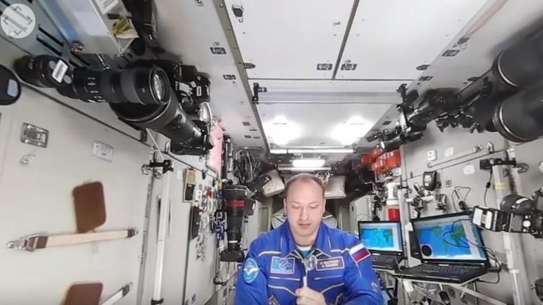 Weltall in 360 Grad und 3D: Wasser-Experimente auf der ISS
