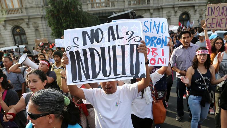 Nach Begnadigung von Ex-Präsident Fujimori: Politische Krise in Peru weitet sich aus