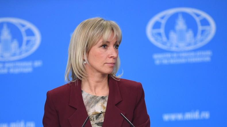 Maria Sacharowa: US-Aussage über Nawalny ist Einmischung in Russlands innere Angelegenheiten