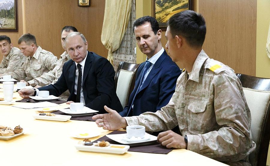 Wladimir Putin ordnet während Überraschungsbesuchs in Syrien Abzug russischer Truppen an