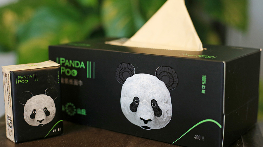 Panda-Kot wird Luxus-Klopapier in China