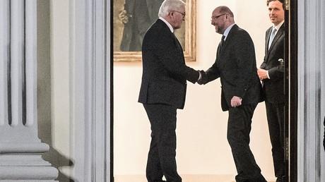 Das neue Machtzentrum in Bellevue. Am Donnertag trafen sich Parteichefs der CDU, CSU und SPD mit dem Bundespräsidenten Frank-Walter Steinmeier in seiner Residenz.