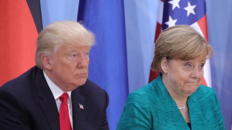 Donald Trump und Angela Merkel beim G20-Gipfel in Hamburg, Deutschland, 8. Juli 2017.
